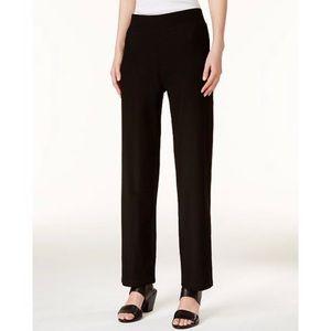 Eileen Fisher Elastic Waist Straight Leg Pants EUC